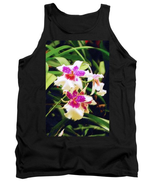 Tank Top featuring the painting Orchids 1 by Sandy MacGowan