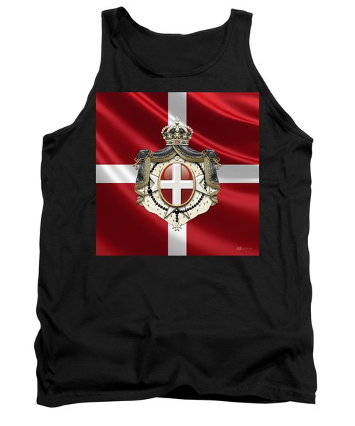 Order Of Malta Coat Of Arms Over Flag Tank Top