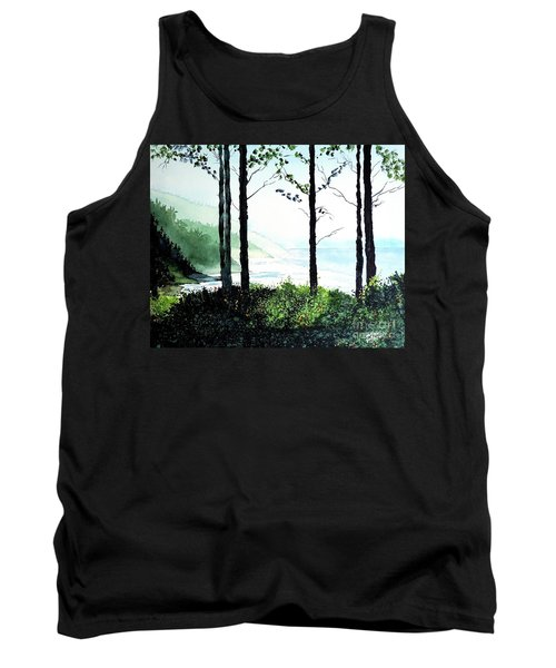Tank Top featuring the painting Oregon Coast by Tom Riggs