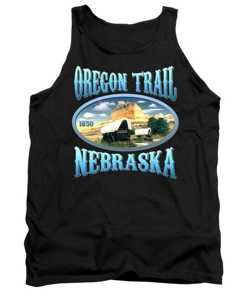 Oregon Trail Nebraska - Tshirt Design Tank Top by Art America Gallery Peter Potter