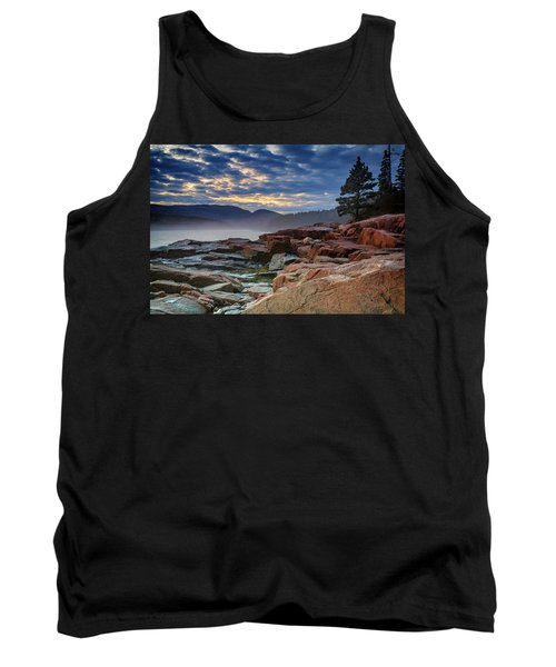 Otter Cove In The Mist Tank Top by Rick Berk
