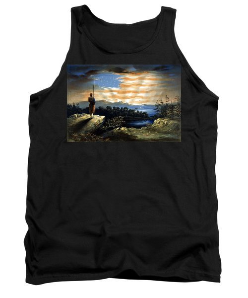 Our Heaven Born Banner Tank Top