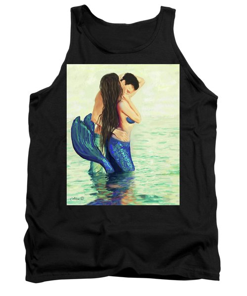 Tank Top featuring the painting Our Treasured Love by Leslie Allen