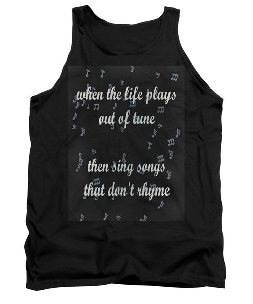 Out Of Tune Black Tank Top by Keshava Shukla