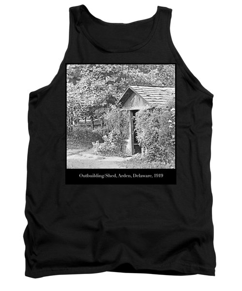Tank Top featuring the photograph Outbuilding, Shed Arden Delaware 1919 by A Gurmankin