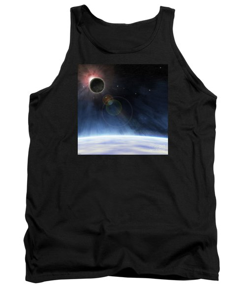 Tank Top featuring the digital art Outer Atmosphere Of Planet Earth by Phil Perkins