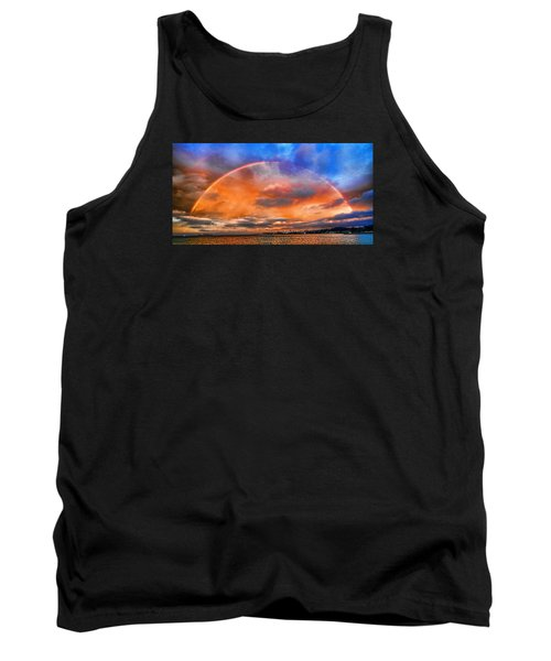Tank Top featuring the photograph Over The Top Rainbow by Steve Siri