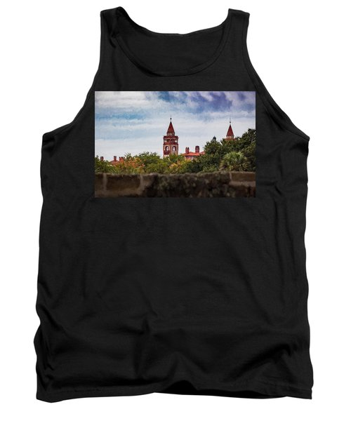 Tank Top featuring the photograph Over The Wall by Kathleen Scanlan