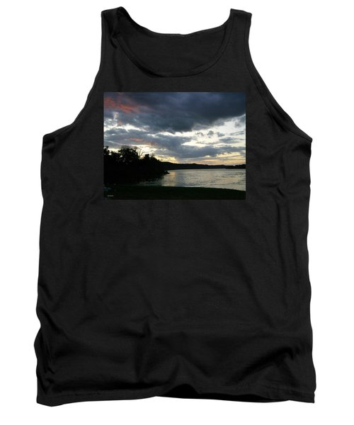 Tank Top featuring the photograph Overcast Morning Along The River by Skyler Tipton