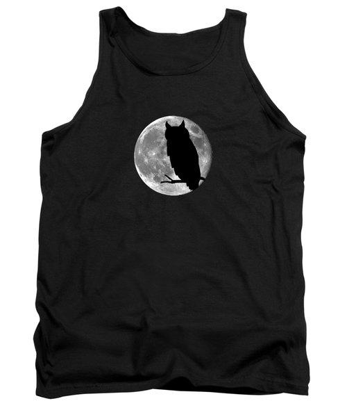 Owl Moon .png Tank Top