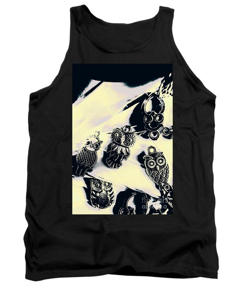 Owls From Blue Yonder Tank Top