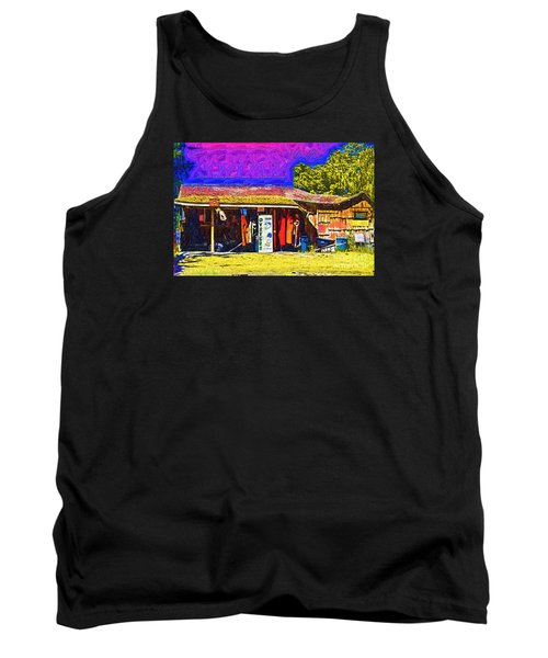 Tank Top featuring the digital art Oyster Hut by Kirt Tisdale