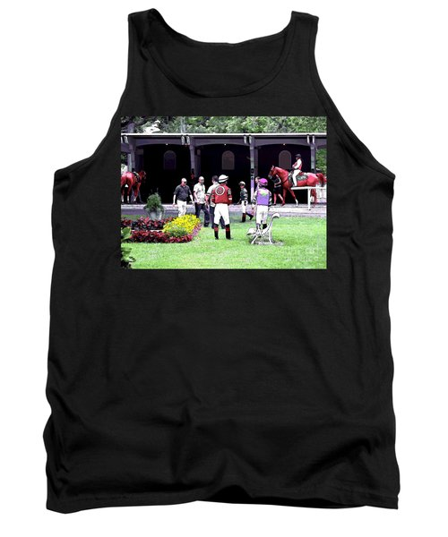 Tank Top featuring the digital art Paddock Painting by  Newwwman