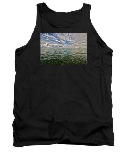 Paint Brush Sky - Ft Myers Beach Tank Top by Christopher L Thomley