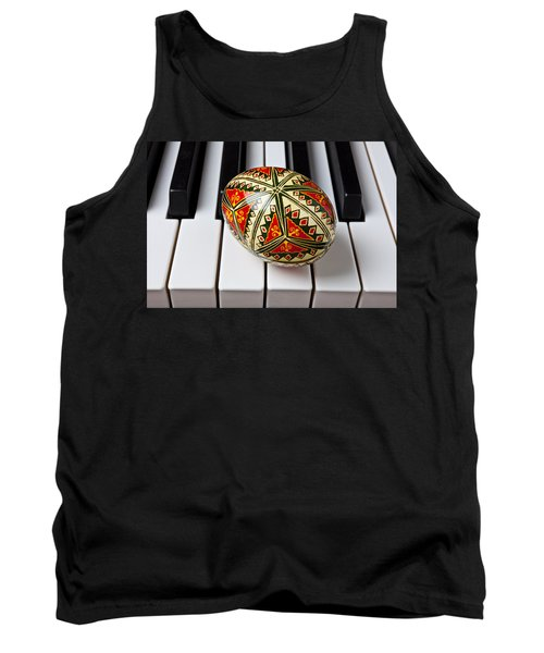 Painted Easter Egg On Piano Keys Tank Top