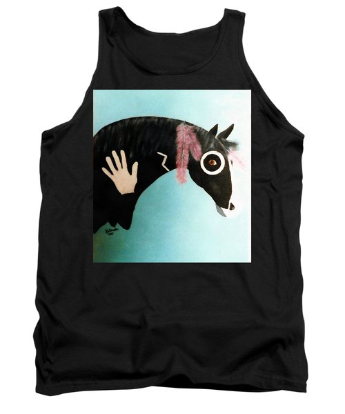 Painted Pony With Feather Tank Top