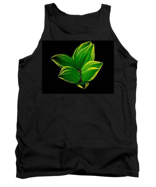 Painter Leaf Pattern Tank Top