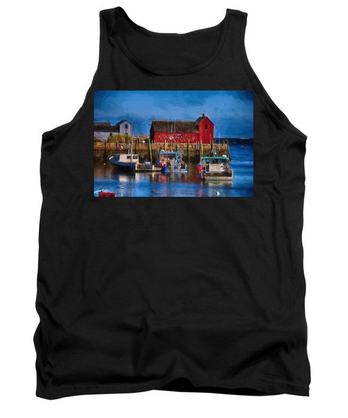 Painterly Motif #1 Rockport Tank Top by Tricia Marchlik