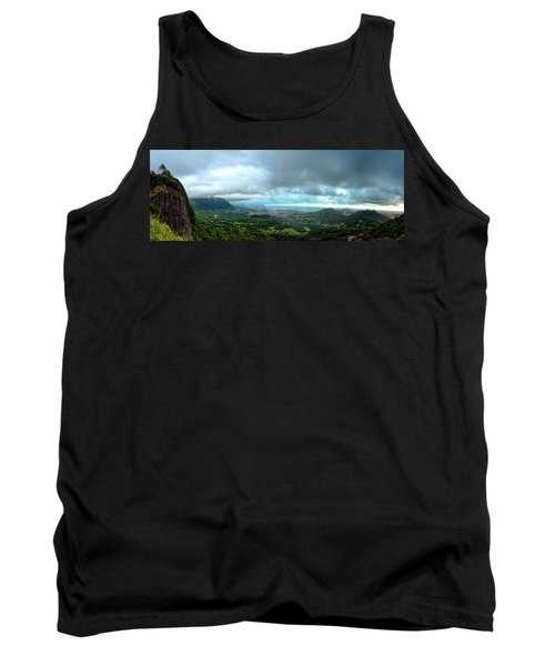 Tank Top featuring the photograph Pali Lookout Dawn by Dan McManus