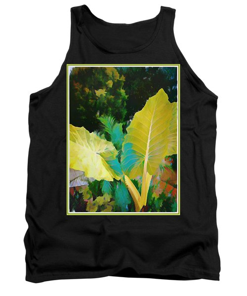 Tank Top featuring the painting Palm Branches by Mindy Newman