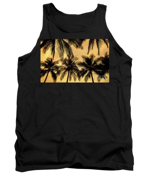 Palm Trees In Sunset Tank Top by Iris Greenwell