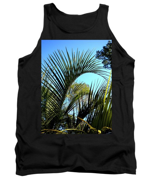 Tank Top featuring the painting Palmetto 2 by Renate Nadi Wesley