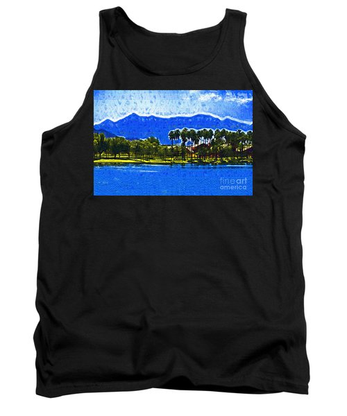 Palms And Mountains Tank Top by Kirt Tisdale