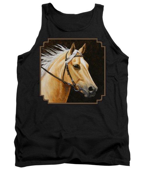 Palomino Horse Portrait Tank Top