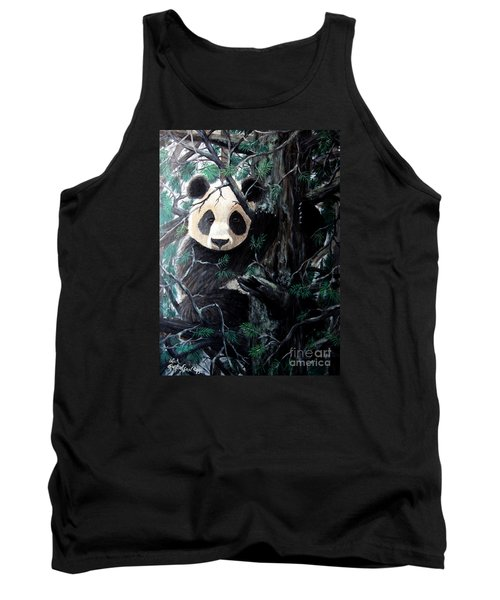 Panda In Tree Tank Top