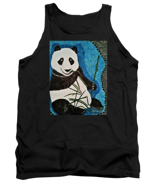 Tank Top featuring the painting Panda by Jasna Gopic
