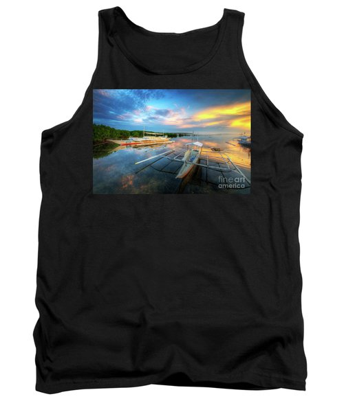Tank Top featuring the photograph Panglao Port Sunset 9.0 by Yhun Suarez