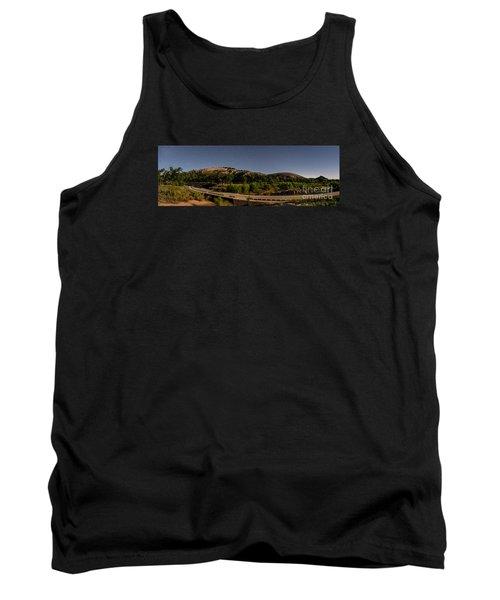 Panorama Of Enchanted Rock At Night - Starry Night Texas Hill Country Fredericksburg Llano Tank Top