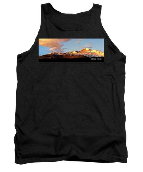 Panorama View Of Longs Peak At Sunrise Tank Top by Ronda Kimbrow