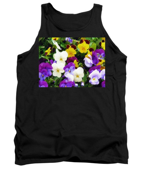 Pansies Tank Top