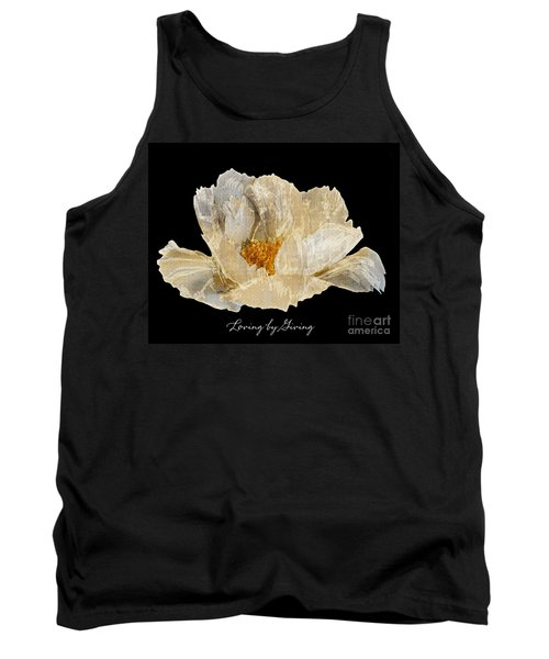 Tank Top featuring the photograph Paper Peony Loving By Giving by Diane E Berry