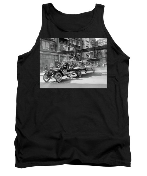 Parade Truck And Biplane Bw Tank Top