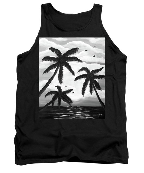 Paradise In Black And White Tank Top