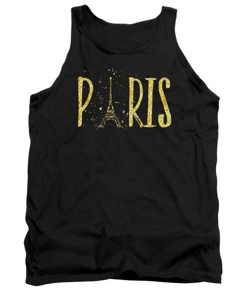 Paris Typografie - Gold Splashes Tank Top