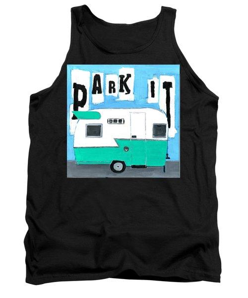 Park It-aqua Tank Top