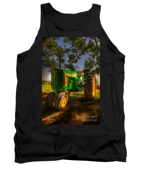 Parked John Deere Tank Top by Michael Eingle