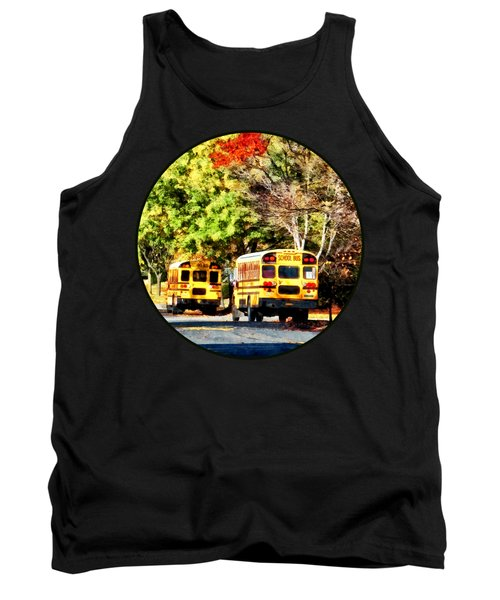 Parked School Buses Tank Top