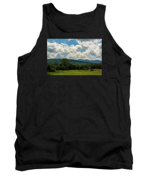 Pastoral Landscape With Mountains Tank Top