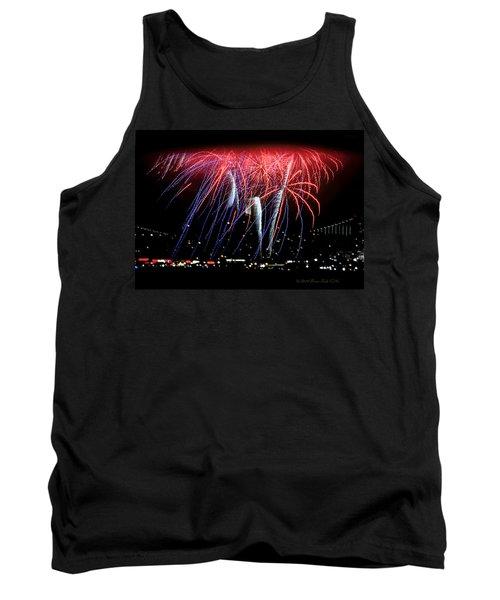 Patriotic Fireworks S F Bay Tank Top