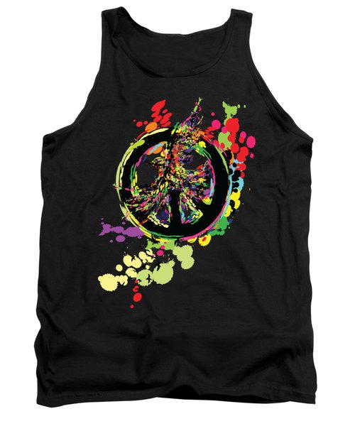 Peace And Peace Tank Top by Cindy Shim