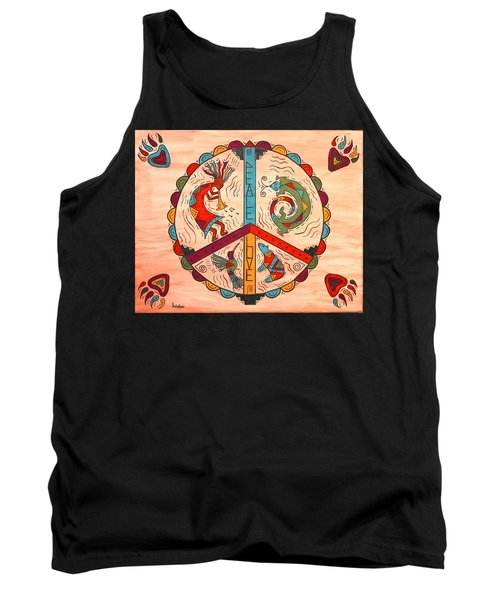 Tank Top featuring the painting Peace Love And Harmony by Susie WEBER
