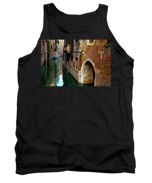 Tank Top featuring the photograph Peaceful Canal by Harry Spitz