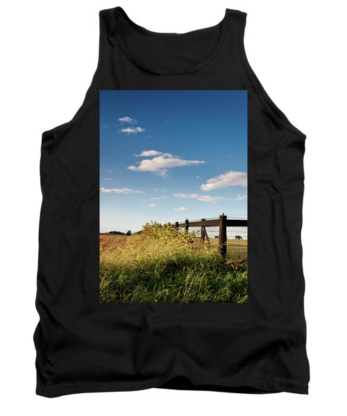 Peaceful Grazing Tank Top by David Sutton