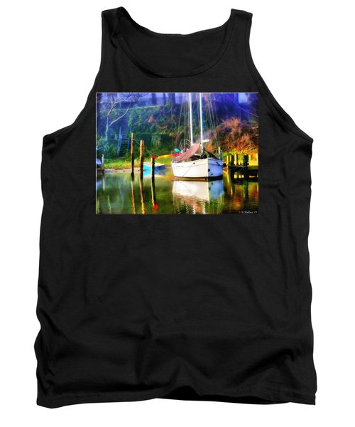 Tank Top featuring the photograph Peaceful Morning In The Cove by Brian Wallace