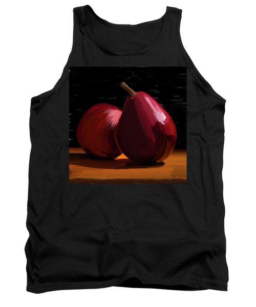 Peach And Pear 01 Tank Top by Wally Hampton