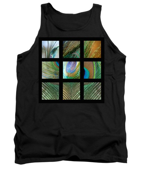 Peacock Feather Mosaic Tank Top